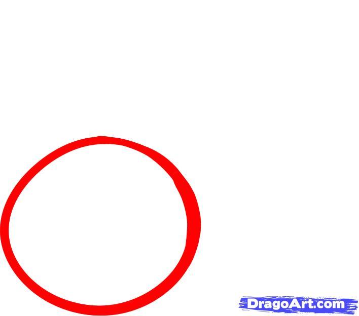Как просто нарисовать вишни  для начинающих - шаг 1