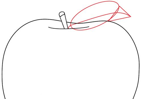 Рисуем яблоко - шаг 4