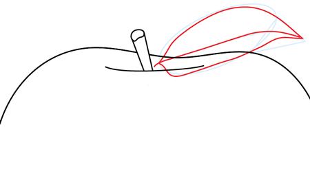 Рисуем яблоко - шаг 5