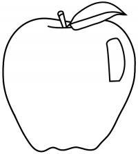 яблоко карандашом