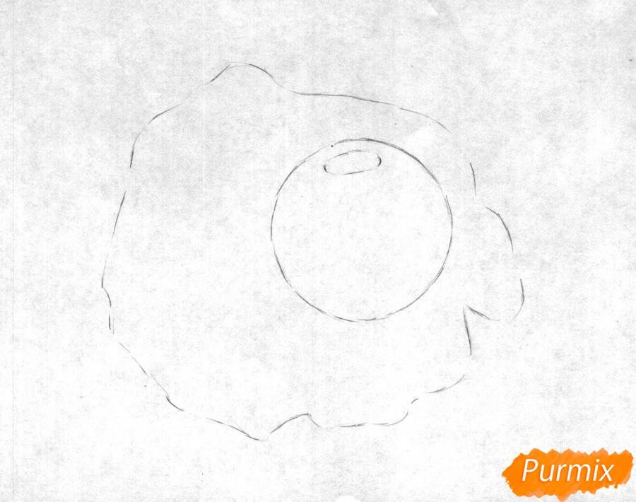 Рисуем яичницу карандашами - шаг 1