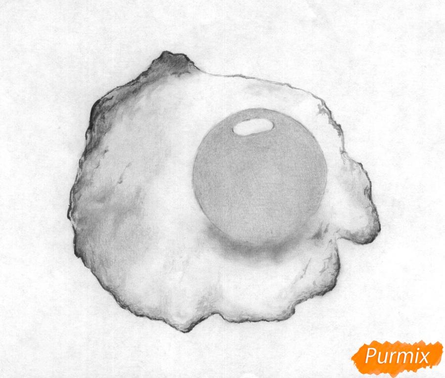 Рисуем яичницу карандашами - шаг 3