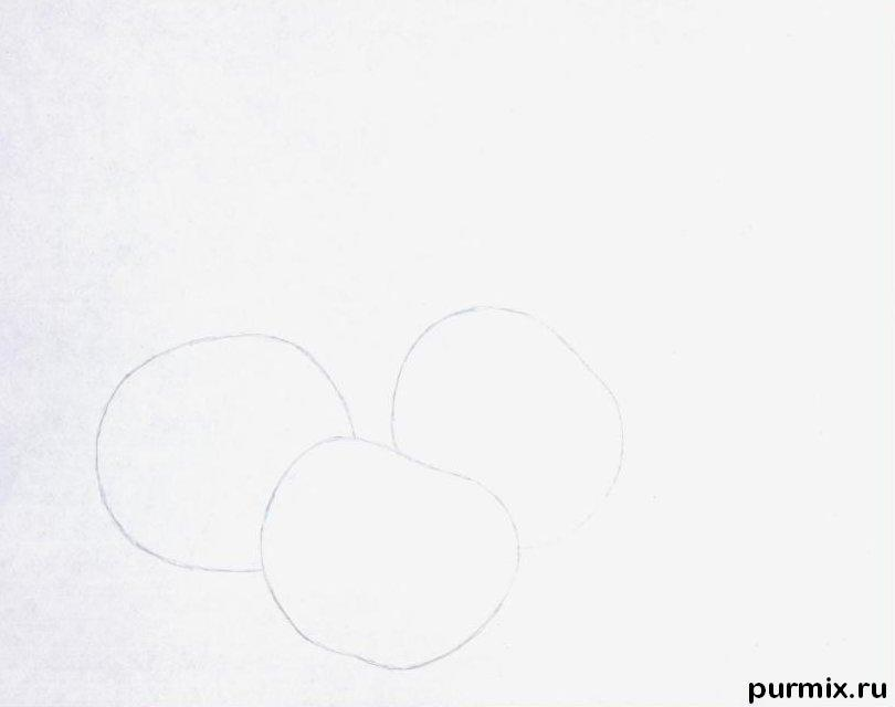 Рисуем вишни карандашами - шаг 1