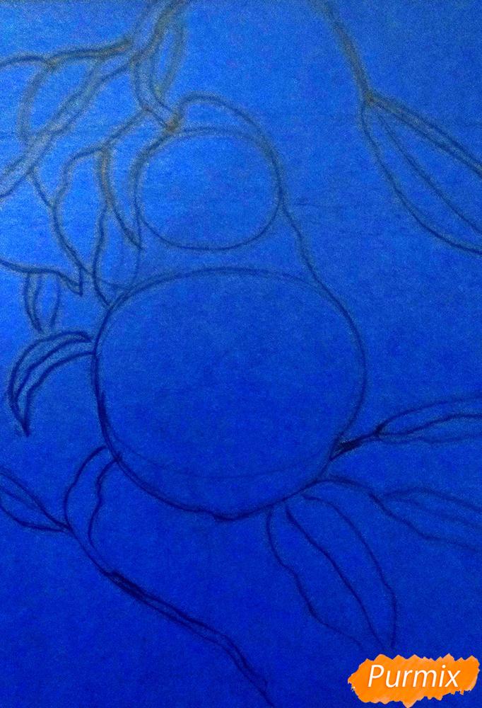 Рисуем гуашью грушу освещенную солнцем - шаг 1