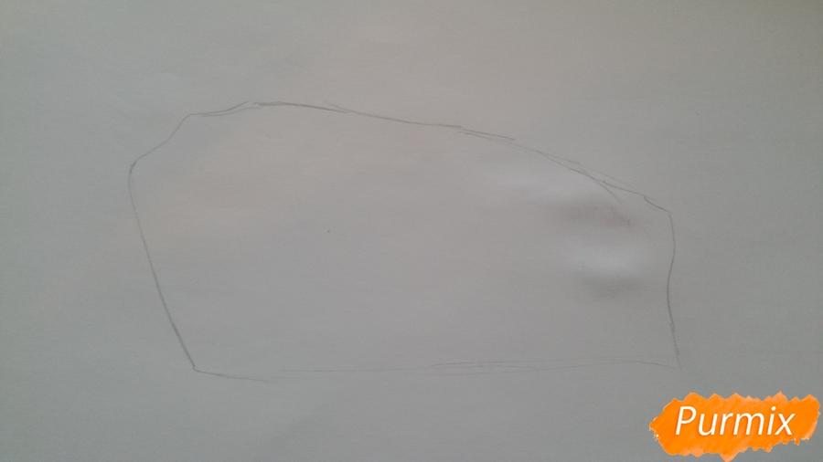 Рисуем кусочек тортика - шаг 1