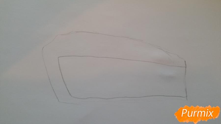 Рисуем кусочек тортика - шаг 2