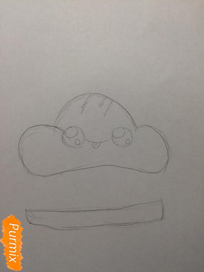 Рисуем миленький бургер с глазками - шаг 2