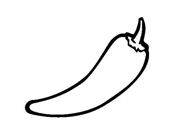 Рисунки перца для срисовки - шаг 4