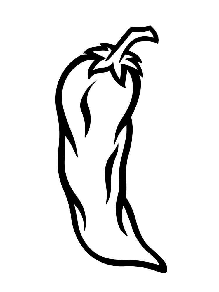Рисунки перца для срисовки - шаг 6