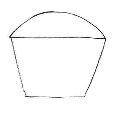 Учимся просто рисовать Кекс - шаг 1