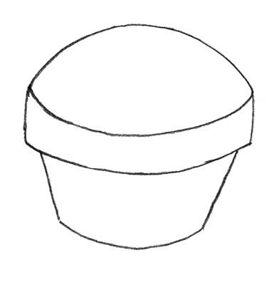 Учимся просто рисовать Кекс - шаг 2