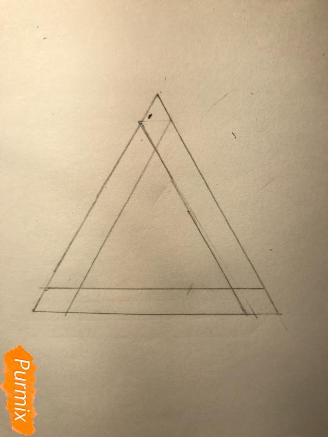 Рисуем нереальный треугольник - шаг 2