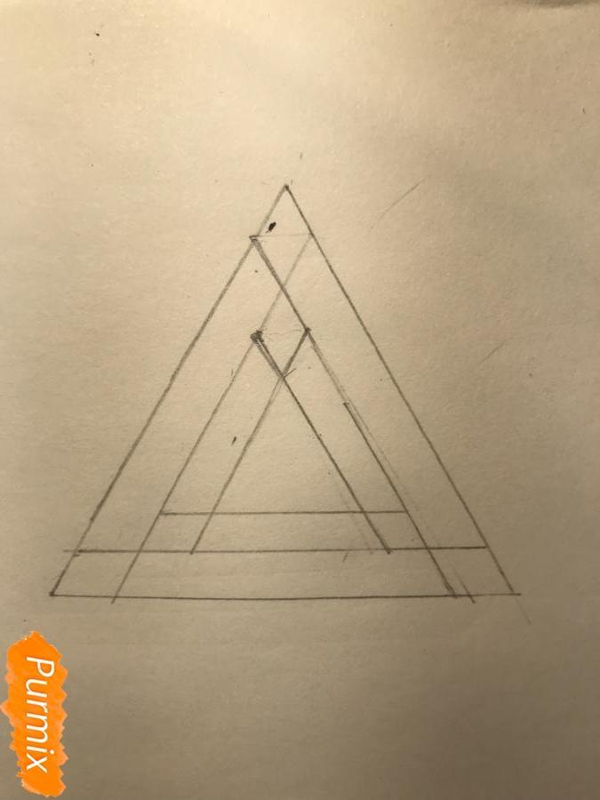 Рисуем нереальный треугольник - шаг 3