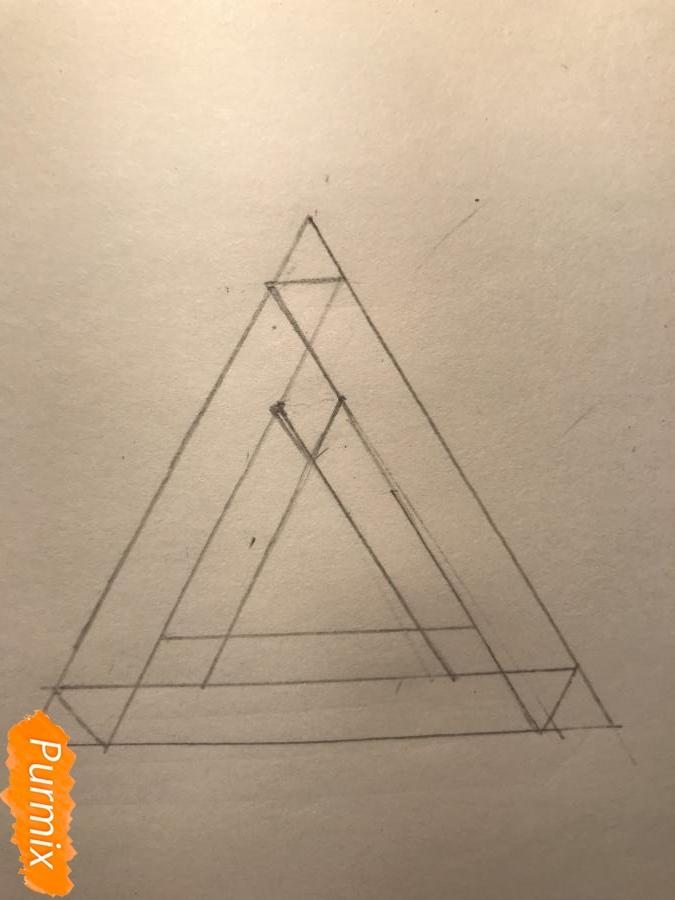 Рисуем нереальный треугольник - шаг 4