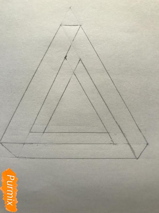 Рисуем нереальный треугольник - шаг 5