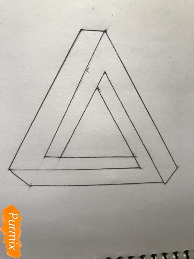 Рисуем нереальный треугольник - шаг 6