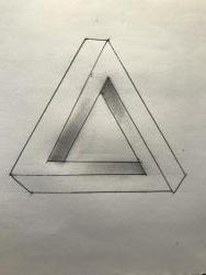 Фото нереальный треугольник карандашом