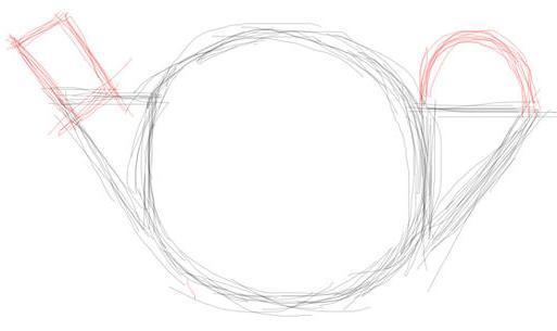 Рисуем чайник - шаг 3