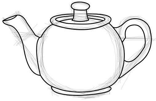Рисуем чайник - шаг 5