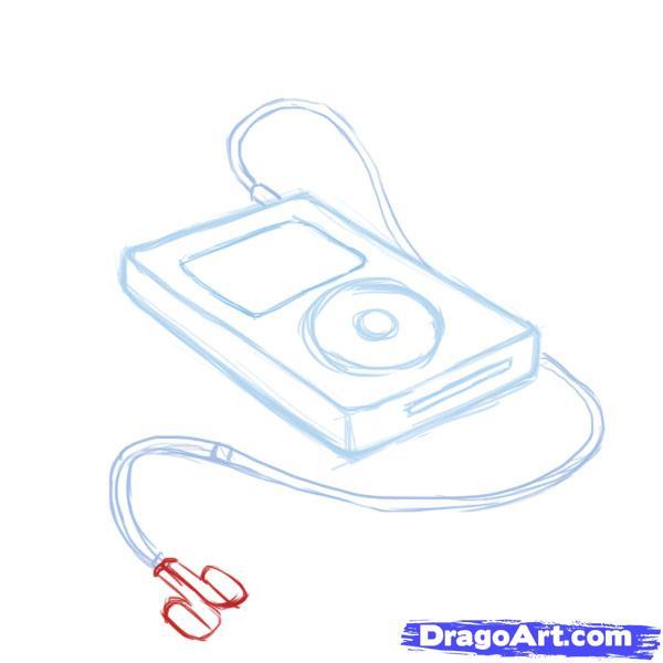 Рисуем iPod - шаг 6