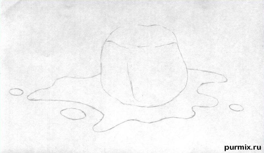 Рисуем кубик льда - шаг 1