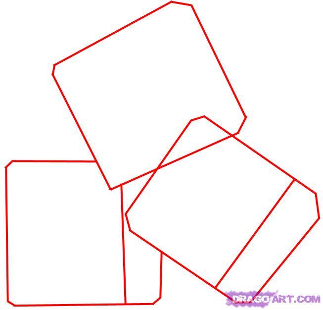 Рисуем кубики льда - шаг 1