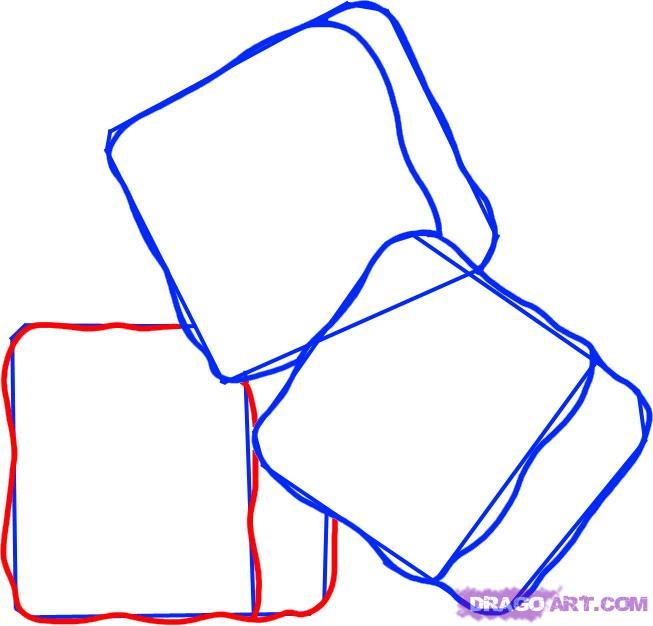 Рисуем кубики льда - шаг 4