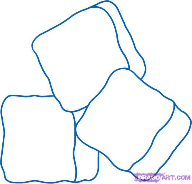 Рисуем кубики льда - шаг 5