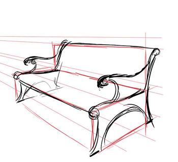 Рисуем скамейку