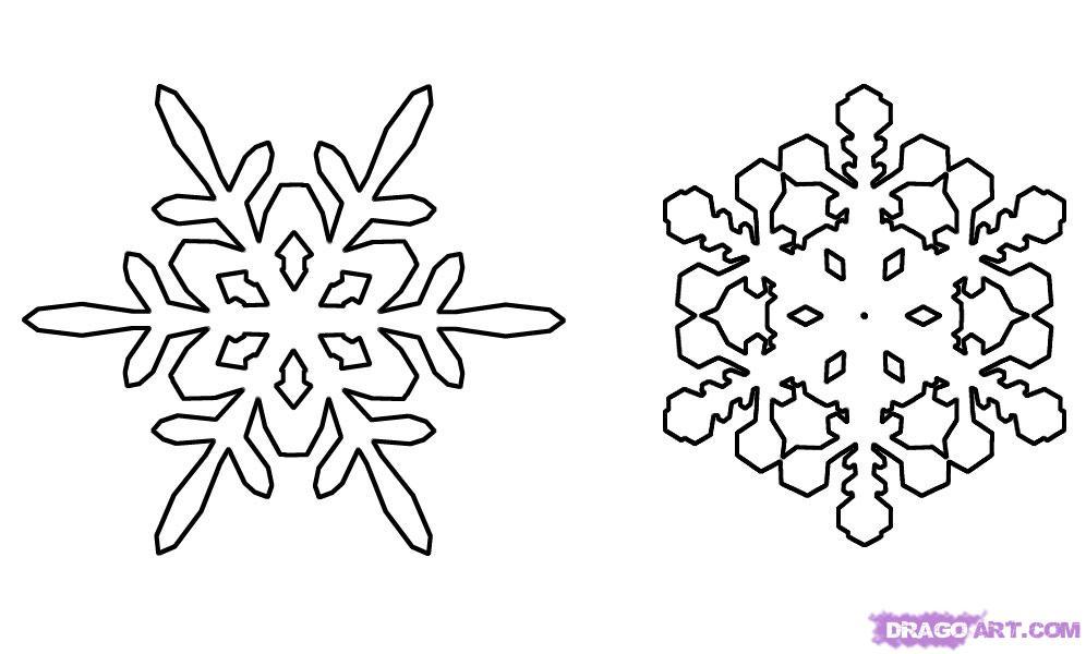 Рисуем снежинку - шаг 4
