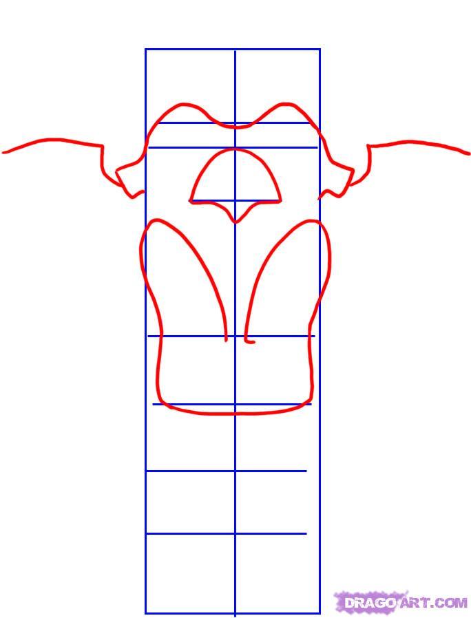Рисуем тотемный столб  на бумаге