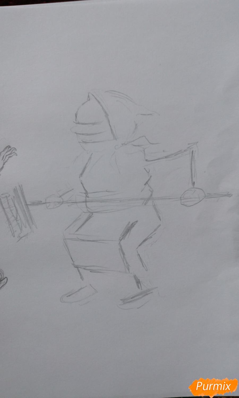 Карикатура: чужой в общежитии и как с ним бороться поэтапный урок - шаг 8
