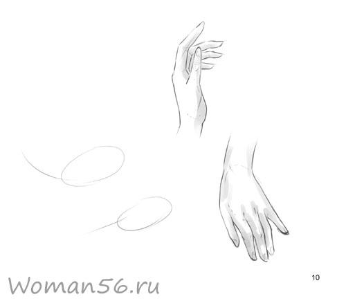Рисуем женские руки с разных ракурсов (подробный фото урок) - шаг 10