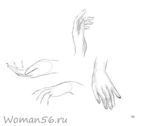 Рисуем женские руки с разных ракурсов (подробный фото урок) - шаг 11