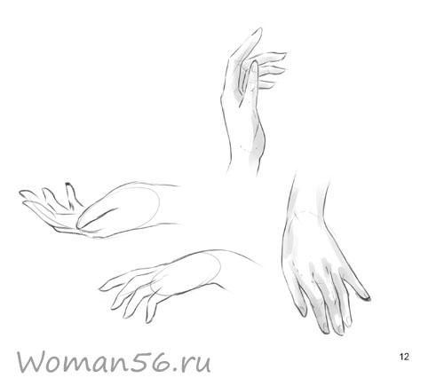 Рисуем женские руки с разных ракурсов (подробный фото урок) - шаг 12