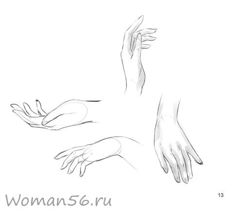 Рисуем женские руки с разных ракурсов (подробный фото урок) - шаг 13