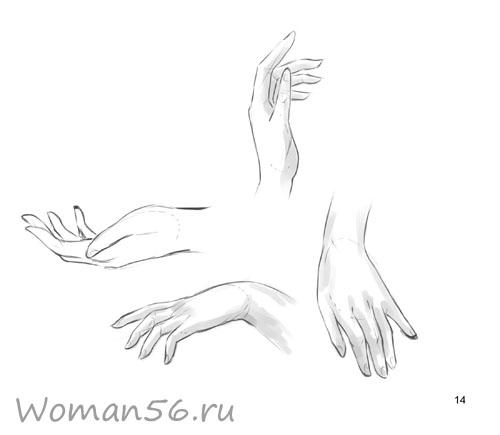 Рисуем женские руки с разных ракурсов (подробный фото урок) - шаг 14