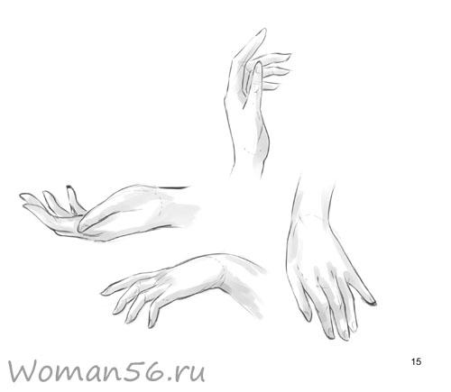 Рисуем женские руки с разных ракурсов (подробный фото урок) - шаг 15