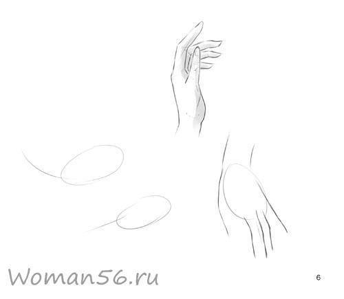 Рисуем женские руки с разных ракурсов (подробный фото урок) - шаг 6