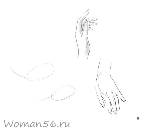 Рисуем женские руки с разных ракурсов (подробный фото урок) - шаг 8
