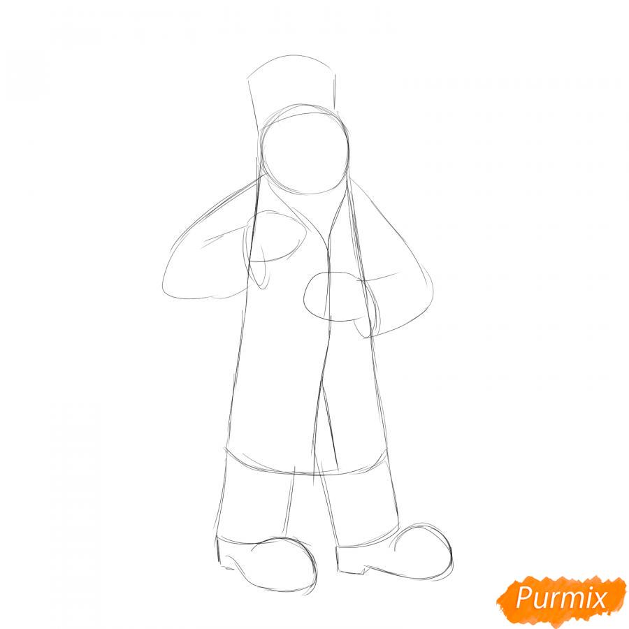Рисуем доктора Айболита - шаг 2