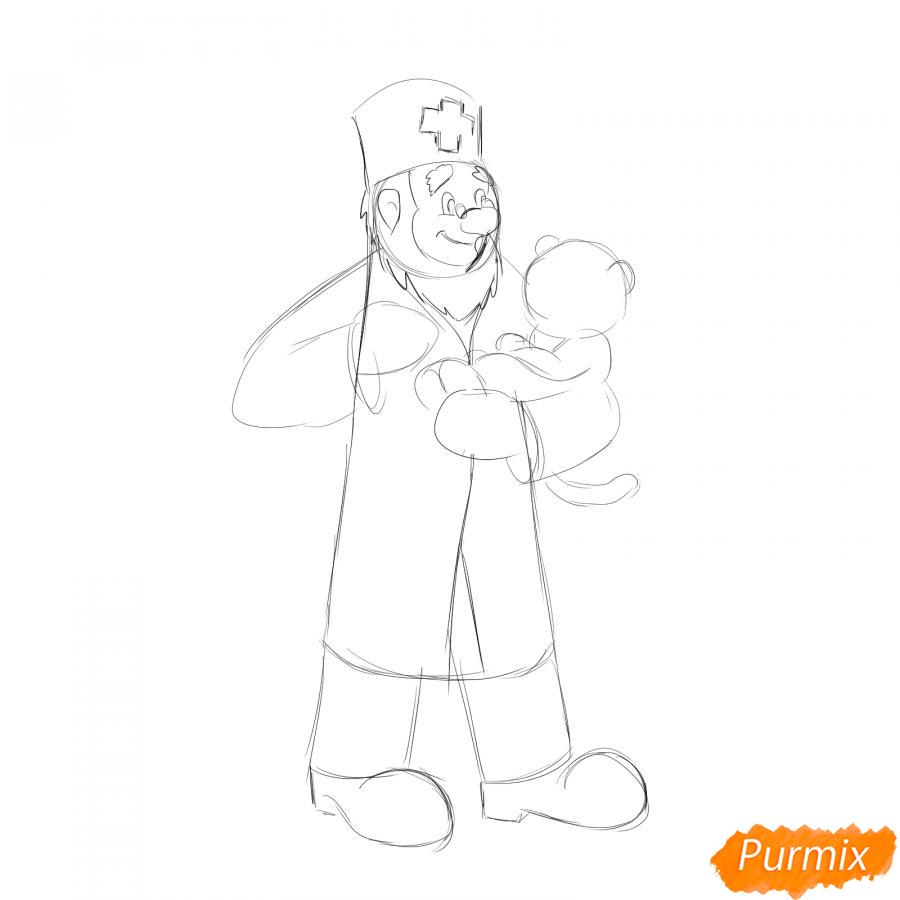 Рисуем доктора Айболита - шаг 3