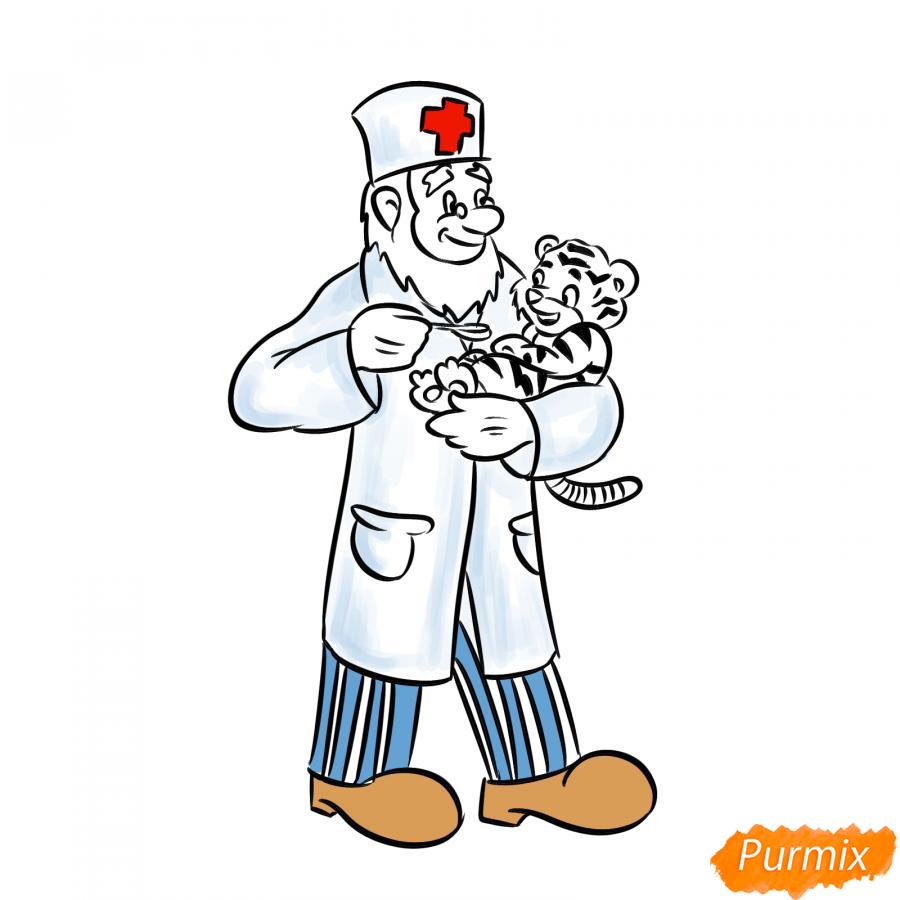 Рисуем доктора Айболита - шаг 7