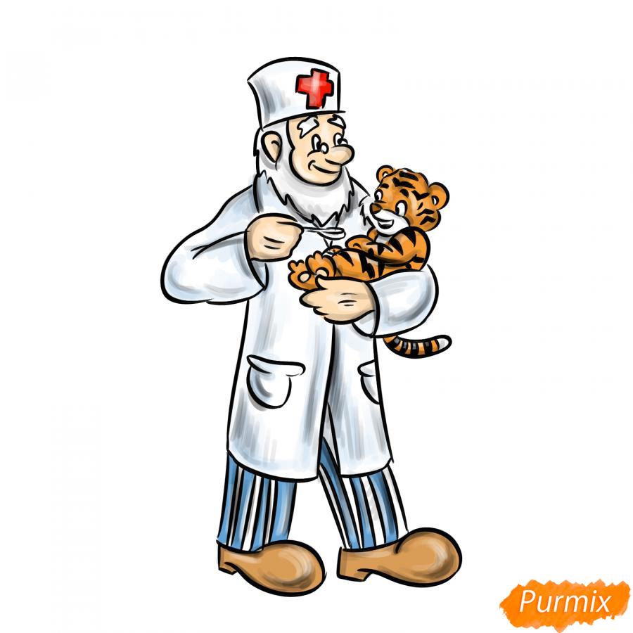 Рисуем доктора Айболита - шаг 9