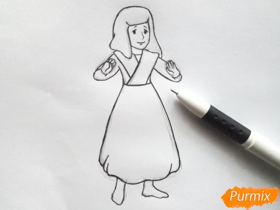 Рисуем Герду из сказки Снежная королева карандашами - шаг 5