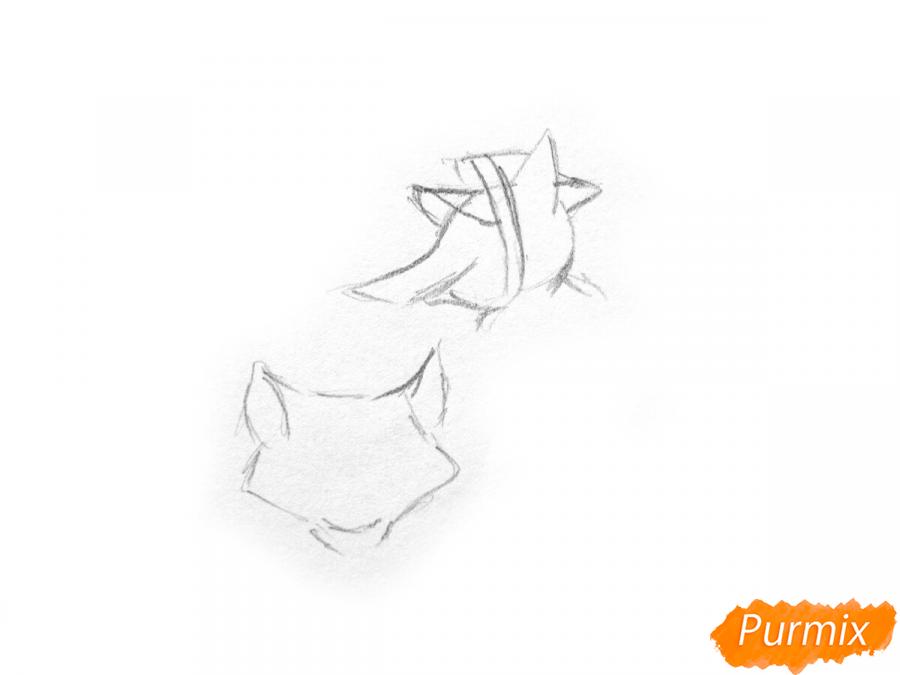 Рисуем и раскрасить кота Базилио и лису Алису - шаг 1