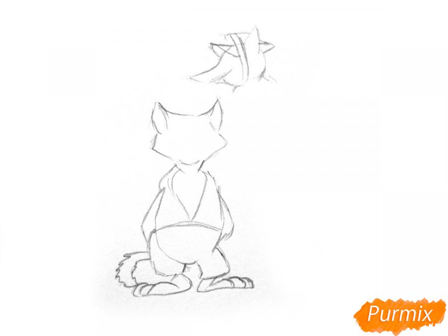 Рисуем и раскрасить кота Базилио и лису Алису - шаг 2