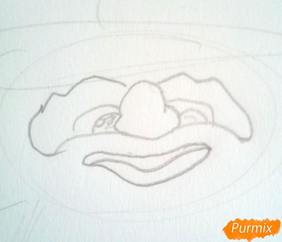 Рисуем Карабаса Барабаса из Буратино - шаг 2