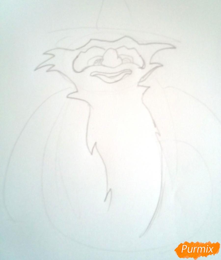 Рисуем Карабаса Барабаса из Буратино - шаг 3