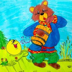 Фото колобка и медведя из сказки